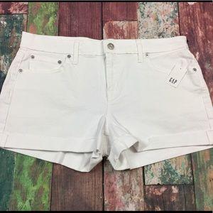 Gap Women White Denim Jean Shorts